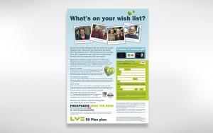Direct response print ad