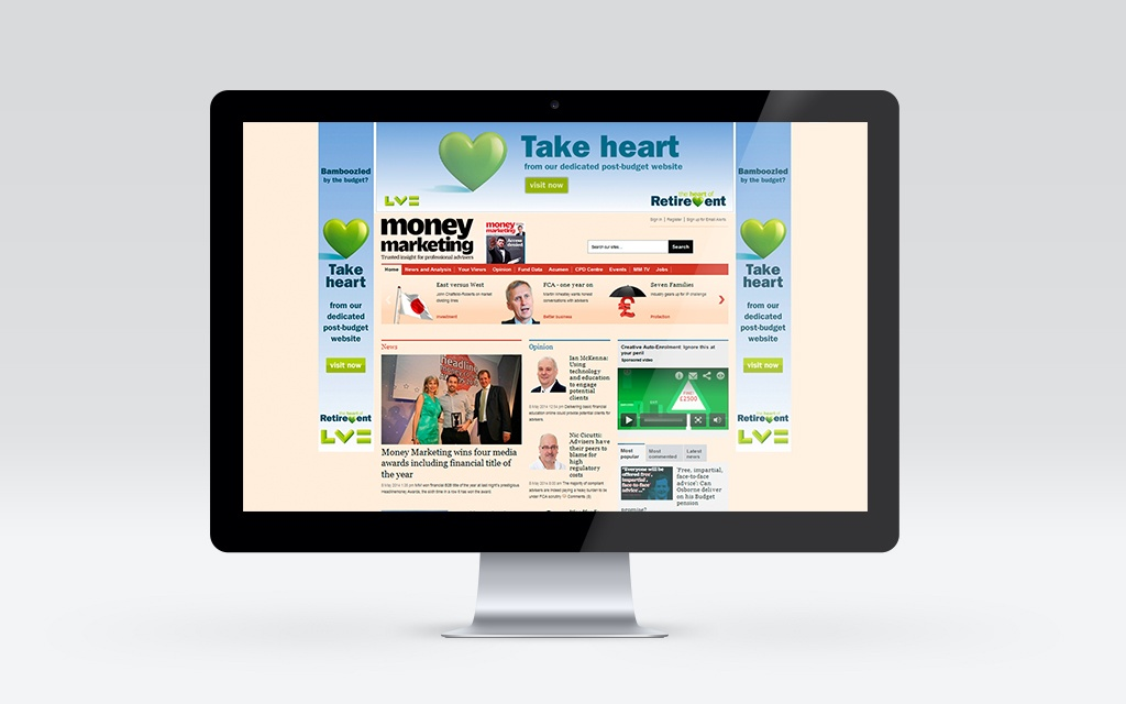 Dedicated campaign microsite