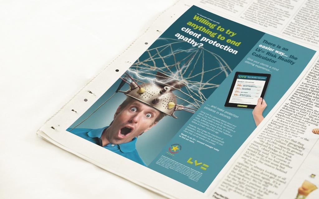 Press ad for online calculator
