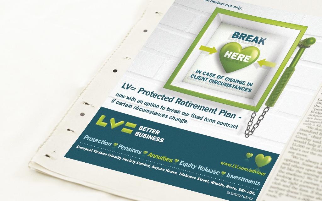 Press advertising for LV=