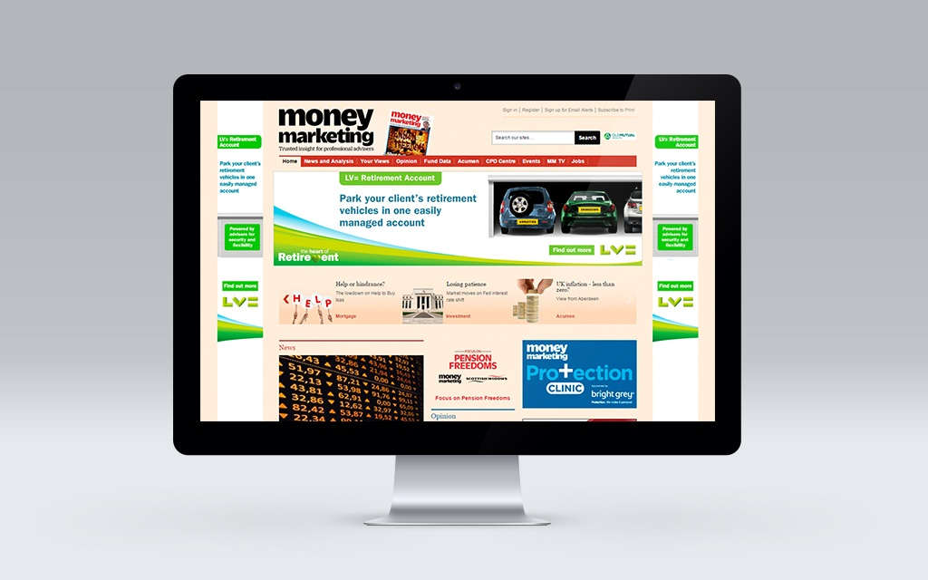 Banner ads on Money Marketing website