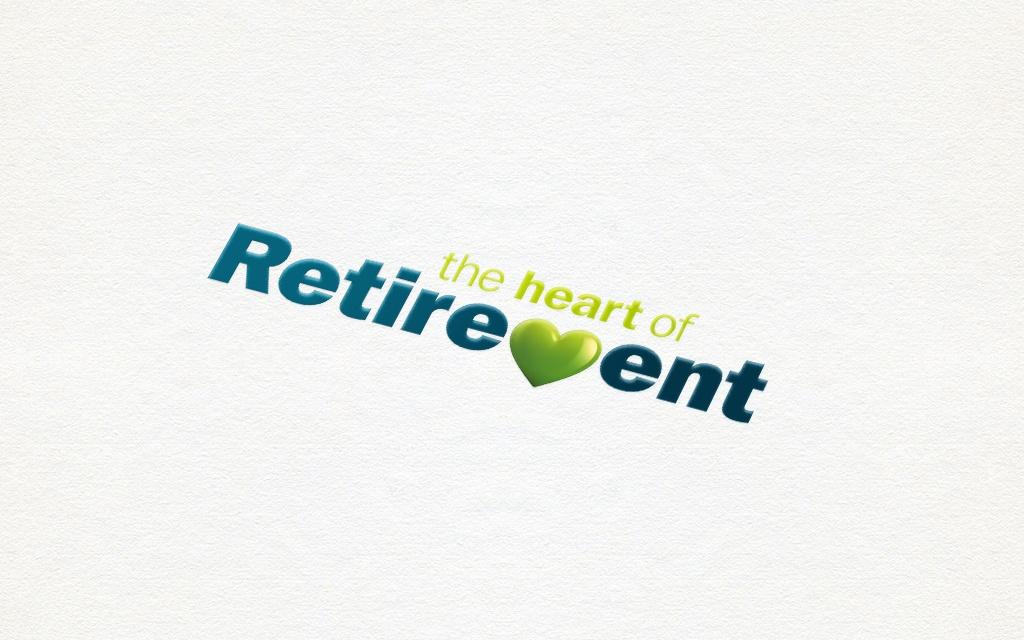 Heart of Retirement logo design