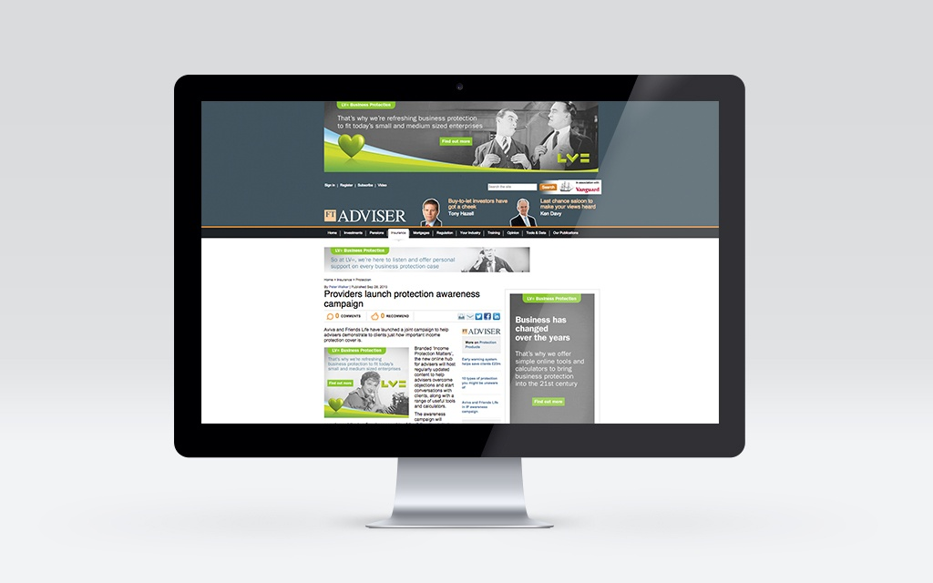 Display advertising on the FT Adviser site