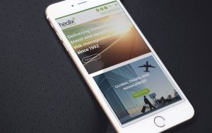 Home page of Healix website on mobile phone