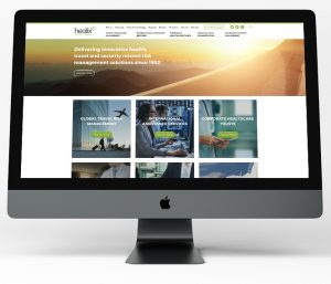 Desktop screenshot of healix.com home page as part of website design and build