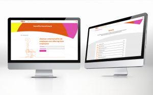 Screenshots of Ellipse benefits benchmark app, we designed and built