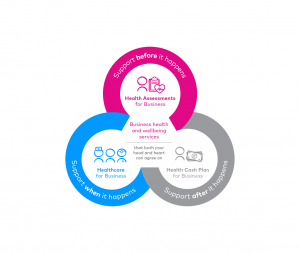 Three interlocking circles showing Benenden B2B proposition