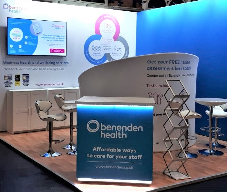 Stand for Benenden Health at B2B event