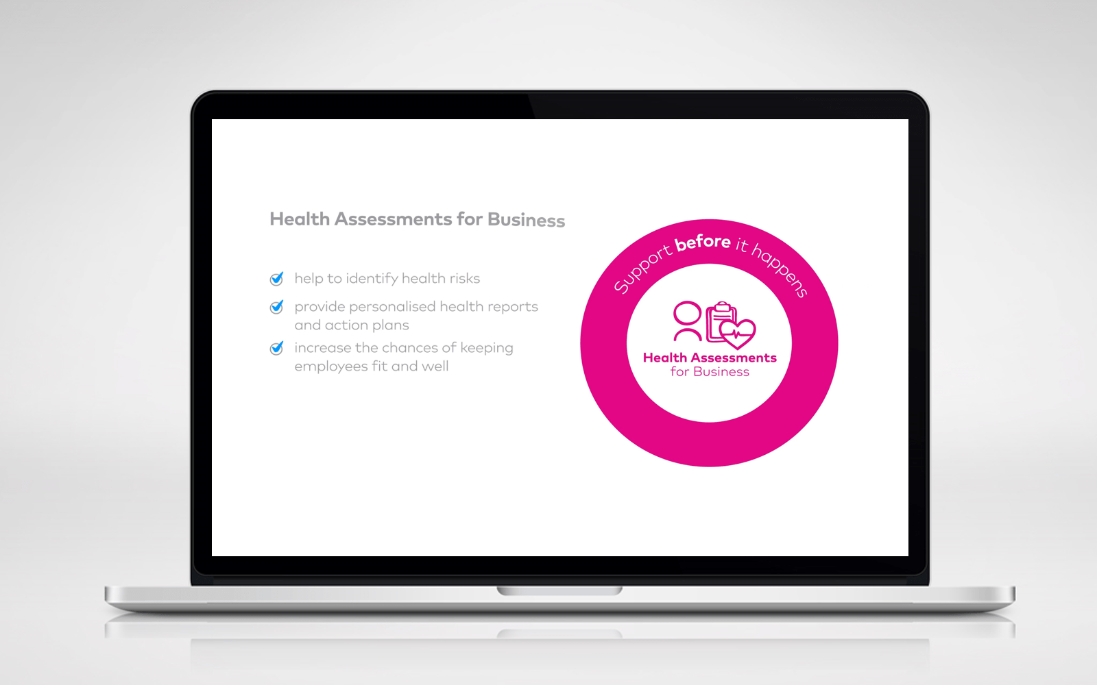 Health Assessments proposition animation