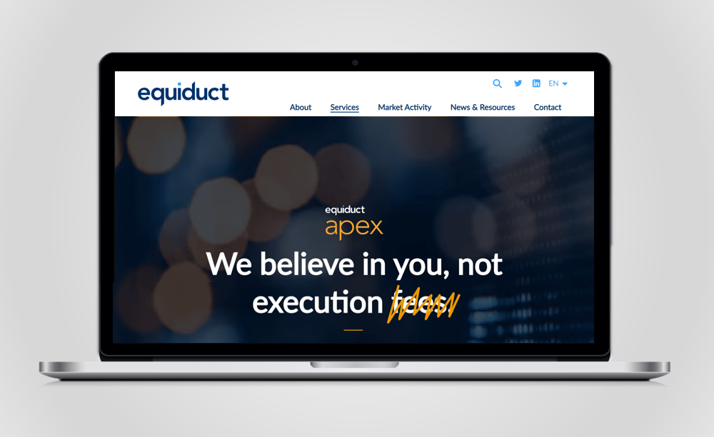 Equiduct website redesign Apex landing page