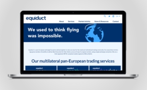 Equiduct website redesign on screen