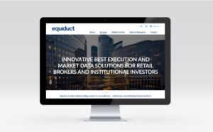 Equiduct website redesign services landing page