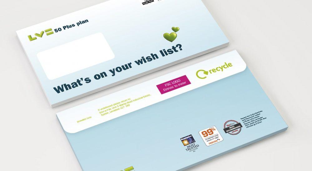 Branded envelopes for DM campaign