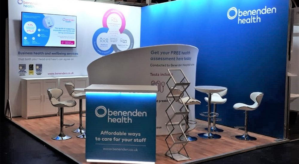 Image of branded event stand for Benenden Health