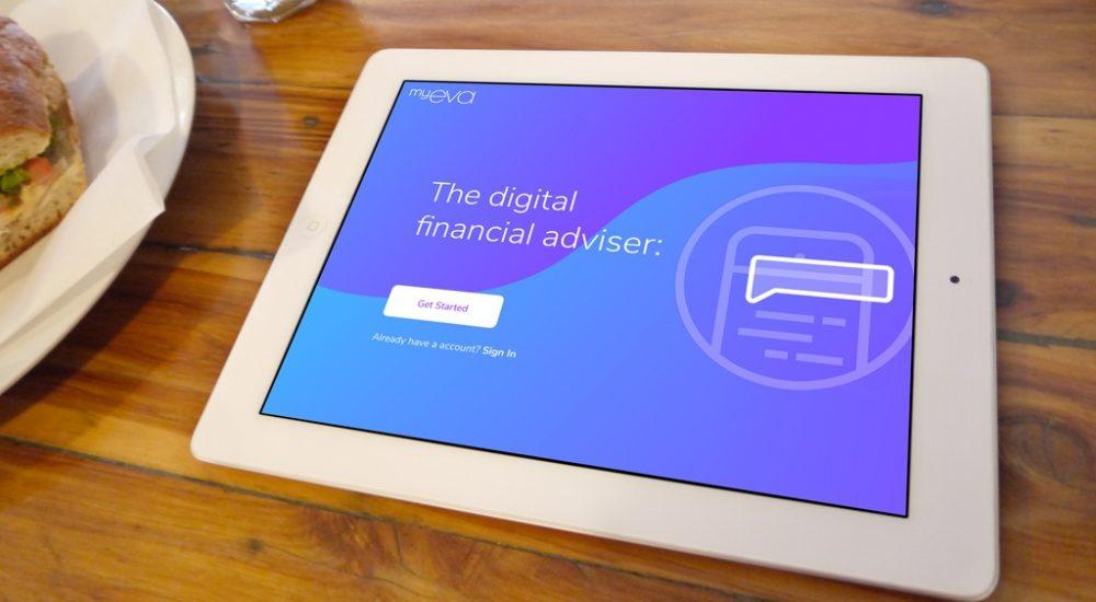 ipad screenshot of MyEva financial app design and creation