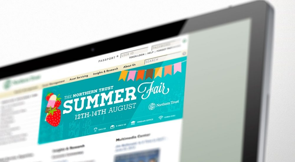 Website banner for internal events promotion