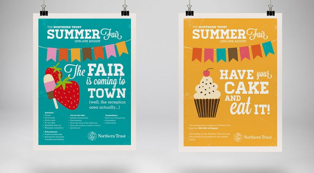 Posters designed to promote internal event