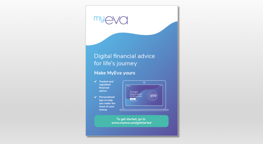 myeva poster example as part of brand launch campaign
