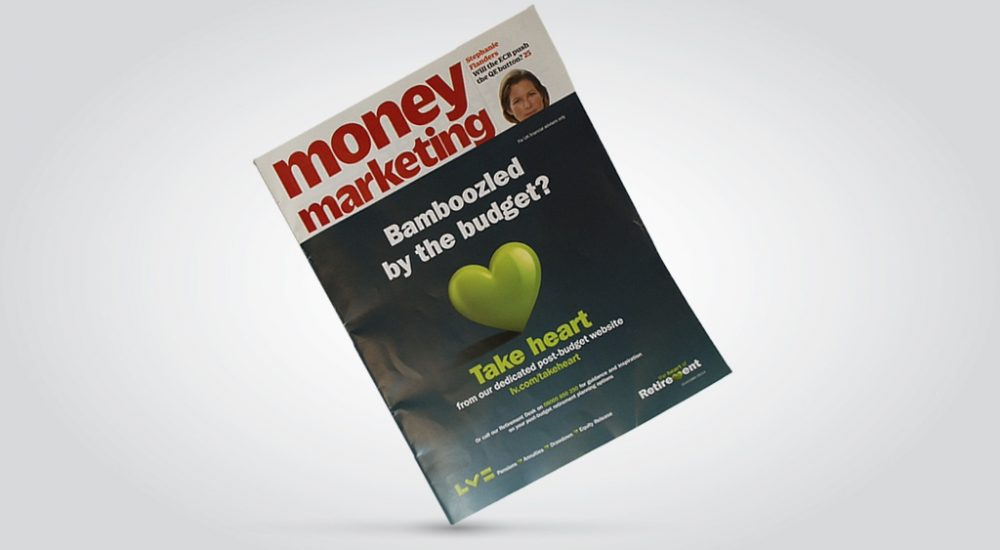 Front-cover wrap on Money Marketing